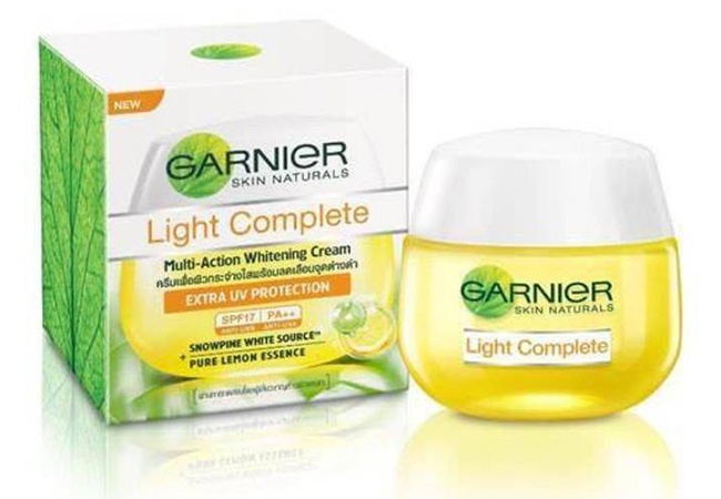 Garnier Light Complete Multi-Action Whitening Serum Cream Extra UV Protection