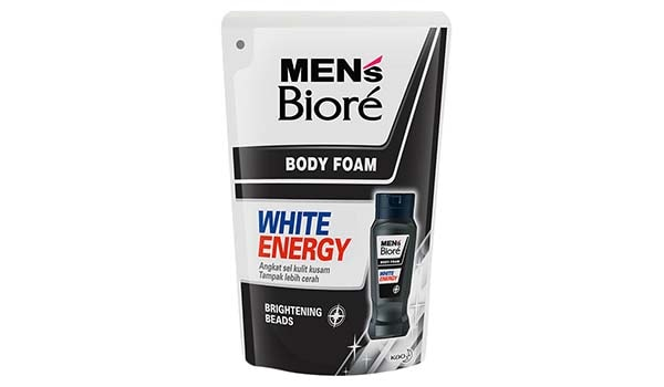 Sabun Mandi Cair Terbaik, Men's Biore White Energy Pouch Body Foam