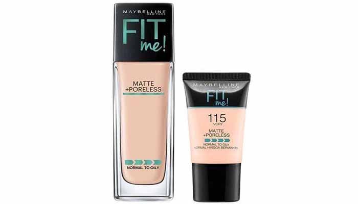 foundation untuk kulit berminyak, Maybelline Fit Me Matte + Poreless Foundation