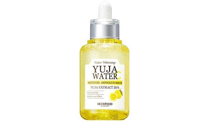 Skinfood Yuja Water C Whitening Ampoule, serum vitamin c alami