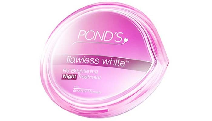 Ponds Flawless White Brightening Night Cream, cream pembersih flek hitam