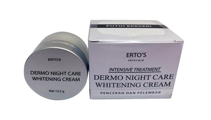Ertos Dermo Night Cream Whitening, Krim malam terbaru yang bagus