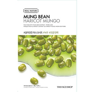 The Face Shop Real Nature Mask Mung Bean Mask Sheet