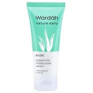 Wardah Nature Daily Aloe Hydramild Moisturizer Cream, produk Wardah untuk kulit kering