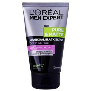 LOreal Men Expert Pure & Matte Charcoal Black Scrub