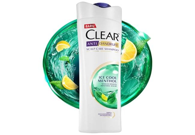 Clear Shampoo Ice Cool Menthol, shampo untuk rambut berketombe