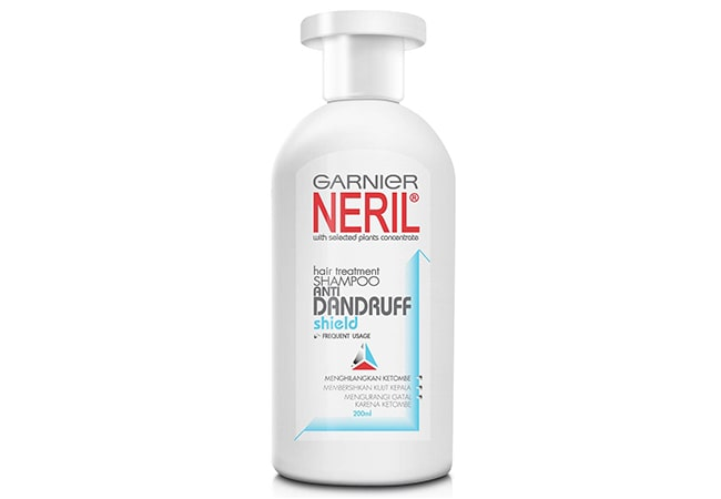 Garnier Neril Anti-Dandruff Shield Shampoo, shampoo untuk rambut ketombe
