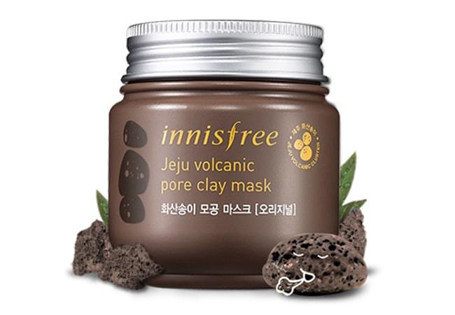 Innisfree Jeju Volcanic Pore Clay Mask, Rekomendasi Masker Wajah bagus