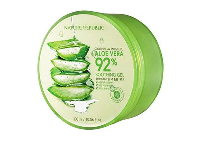 Nature Republic Aloe Vera 92% Soothing Gel, moisturizer untuk kulit kering