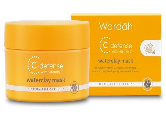 Wardah C-Defense Waterclay Mask