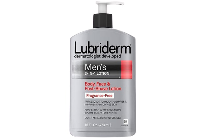 Lubriderm Mens 3-in-1 Fragrance-Free Lotion