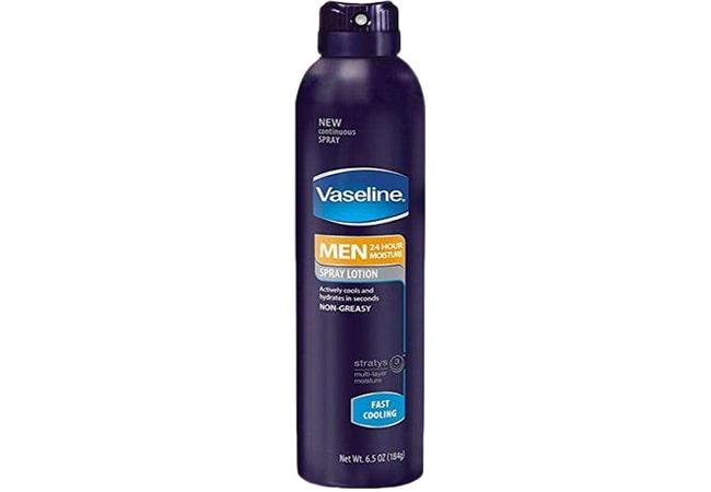 Vaseline Men Spray and Go Body Lotion Fast Absorbing Spray