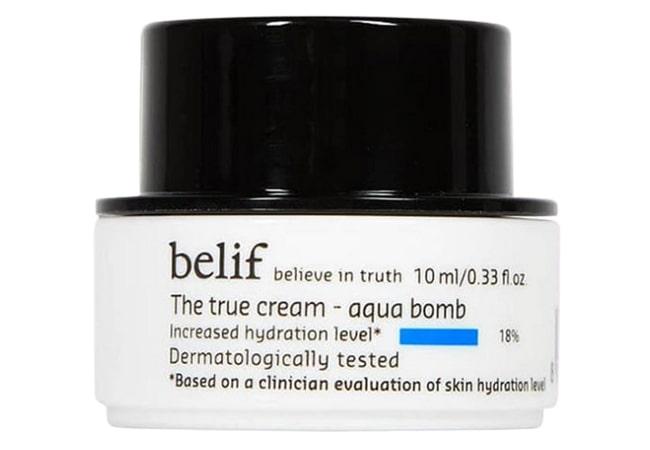 Belif The True Cream Aqua Bomb, krim malam untuk kulit kering