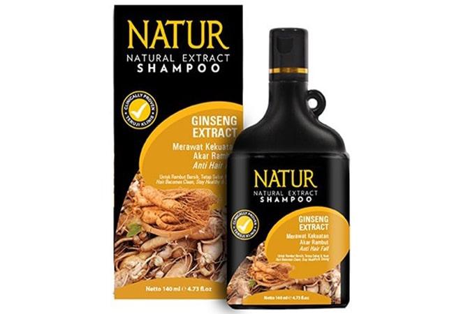 Natur Shampoo Extract Gingseng, shampo pria untuk rambut rontok