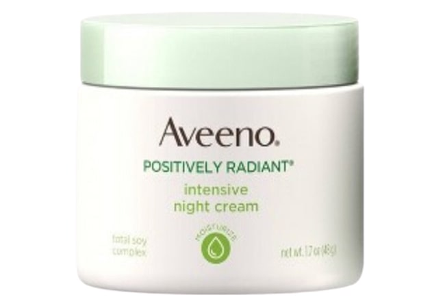 Aveeno Positively Radiant Night Cream, krim malam untuk mengecilkan pori-pori