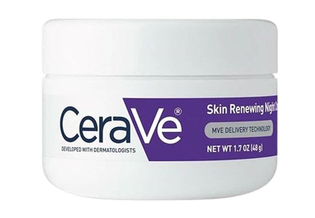 CeraVe Skin Renewing Night Cream, krim malam untuk kulit berjerawat