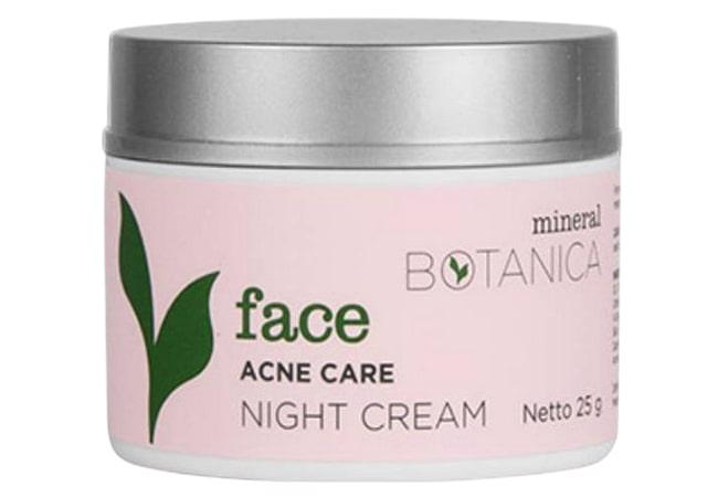 Mineral Botanica Acne Care Night Cream, krim malam untuk kulit berjerawat