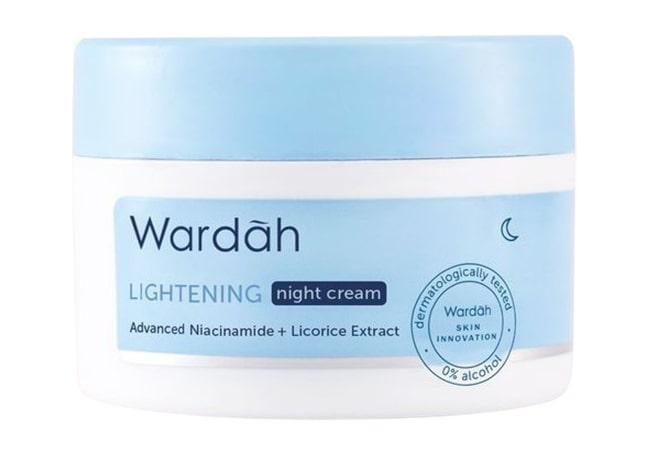 Wardah Lightening Night Cream Advanced Niacinamide, Krim Wardah Untuk Memutihkan Wajah