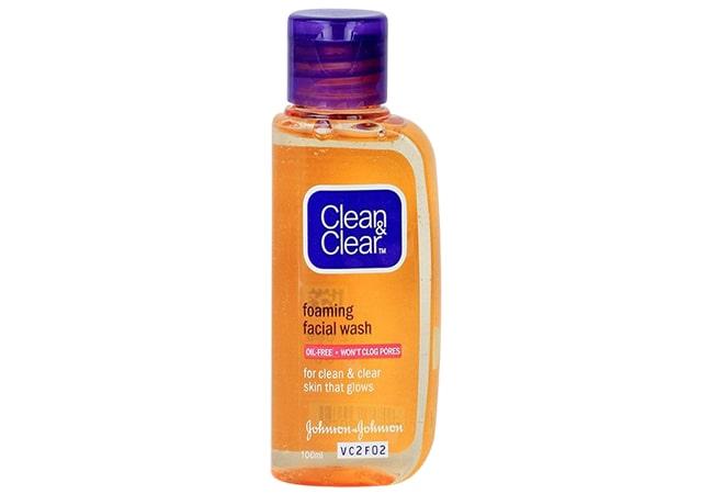 Clean & Clear Foaming Facial Wash, facial foam untuk kulit berminyak