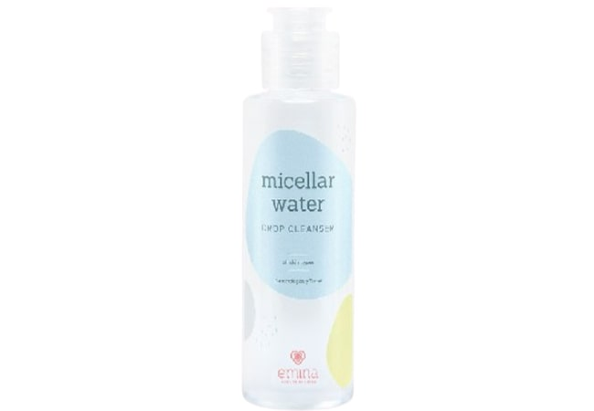 Emina Micellar Water Drop Cleanser, micellar water terbaik untuk kulit berminyak