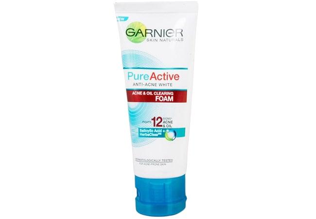 Garnier Pure Active Acne & Oil Clearing Foam, Sabun Cuci Muka Untuk Kulit Berminyak dan Berjerawat