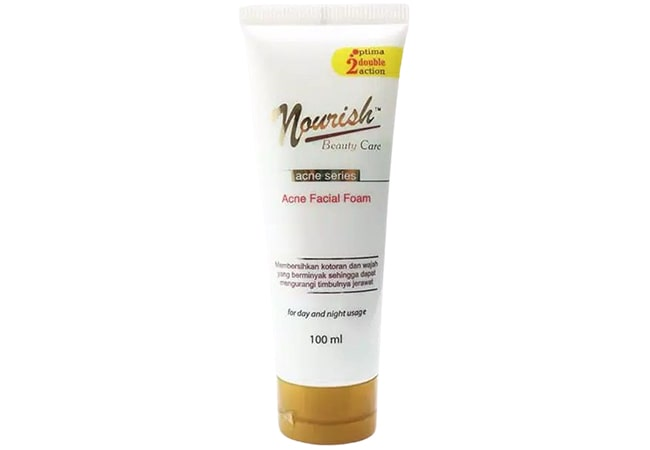Nourish Beauty Care Acne Facial Foam, facial foam untuk kulit berminyak