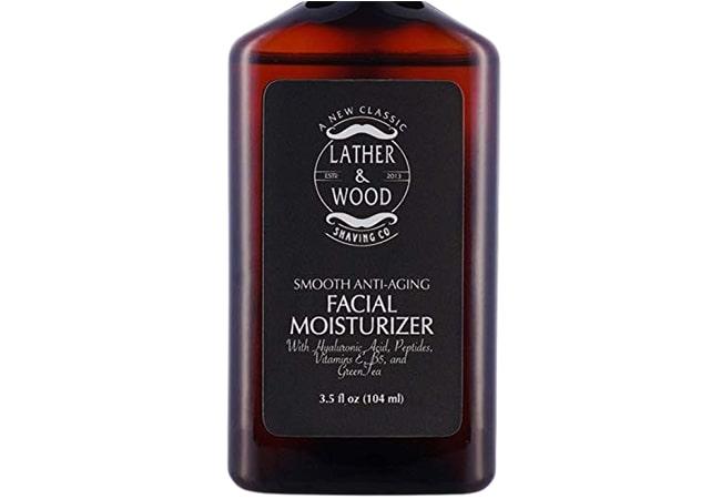 pelembab wajah pria untuk kulit kering, Lather and Wood Face Moisturizer for Men
