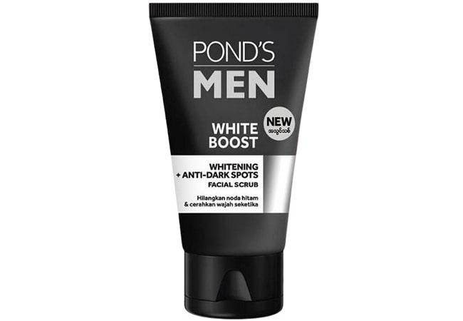 Ponds Men White Boost Facial Scrub, produk scrub wajah pria