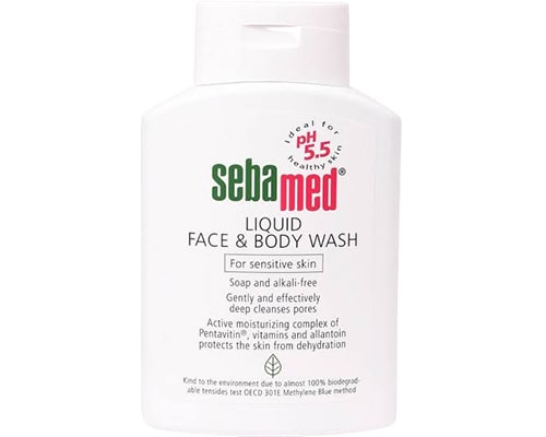 Sebamed Face and Body Wash for Sensitive Skin, sabun mandi untuk kulit sensitif dan alergi