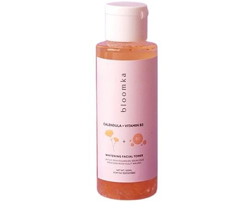 Bloomka Calendula + Vitamin B3 Whitening Facial Toner, Toner Yang Bagus Untuk Mencerahkan