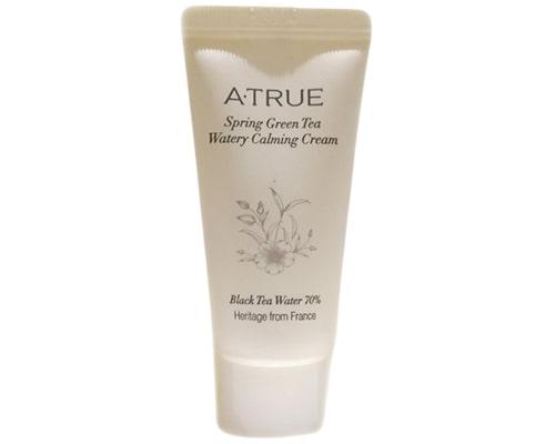 ATrue Spring Green Tea Watery Calming Cream, Pelembab Korea Untuk Kulit Berminyak