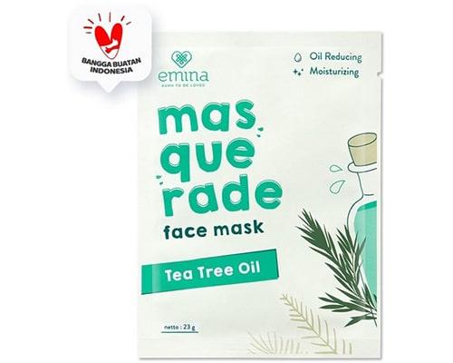 Emina Masquerade Face Mask Tea Tree Oil, Skincare Emina Untuk Kulit Berminyak