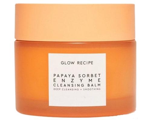 Glow Recipe Papaya Sorbet Enzyme Cleansing Balm, Cleansing Balm Untuk Kulit Berjerawat