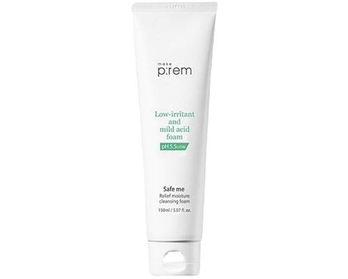 Make prem I Safe Me Relief Moisture Cleansing Foam, Facial Foam Untuk Kulit Kombinasi
