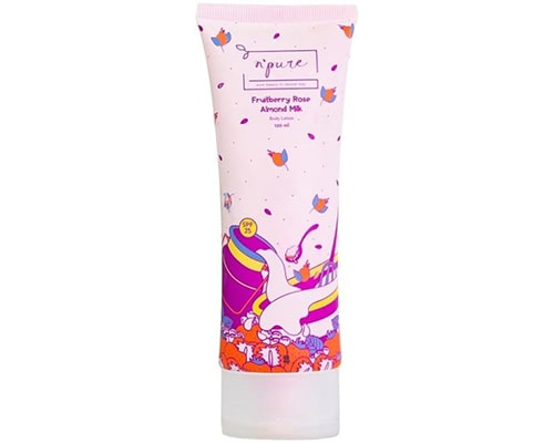 Npure Body Lotion Fruitberry Rose Almond Milk