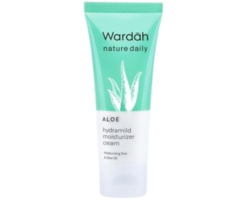 Wardah Nature Daily Aloe Hydramild Moisturizer Cream, pelembab lokal untuk kulit kering