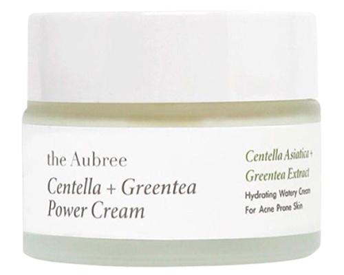 The Aubree Centella + Greentea Power Cream, Pelembab Lokal Untuk Kulit Berminyak dan Berjerawat
