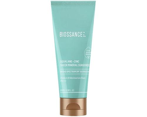 Biossance Squalane + Zinc Sheer Mineral Sunscreen, Sunscreen Yang Mengandung Zinc Oxide