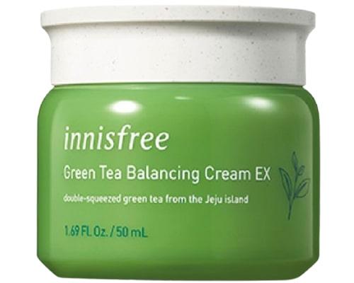 Innisfree Green Tea Balancing Cream EX, Moisturizer Korea Untuk Kulit Berminyak