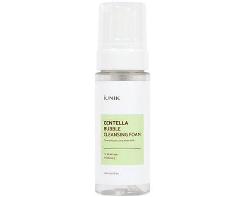 Iunik Centella Bubble Cleansing Foam, Facial Wash Untuk Kulit Kering Berjerawat
