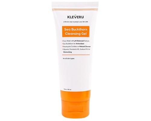 Kleveru Sea Buckthorn Cleansing Gel, Facial Wash Untuk Fungal Acne