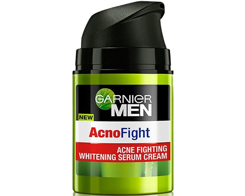Cream Malam Untuk Cowok, Garnier Men Acno Fight Acne Fighting Brightening Serum Cream