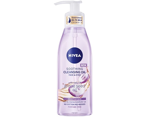 Double Cleansing Yang Bagus, Nivea Soothing Cleansing Oil with Grape Seed Oil