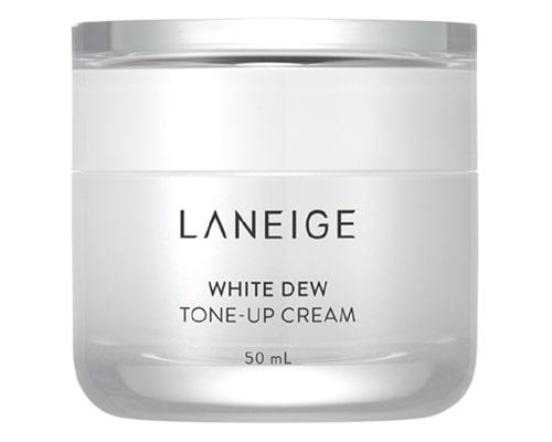 Pelembab Mencerahkan Wajah, Laneige White Dew Tone Up Cream