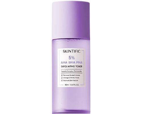 Exfoliating Toner Untuk Kulit Berminyak, Skintific 5% AHA BHA PHA Exfoliating Toner